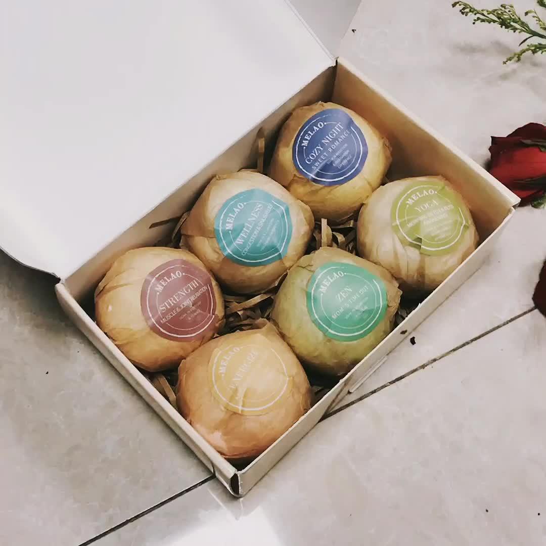 Private Label custom natuurlijke & handgemaakte & organic kids gift set bad bommen