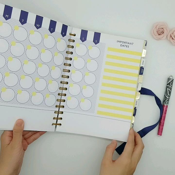12 Mata Pelajaran Diary Notebook Custom Notebook Printing Planner dengan Stiker