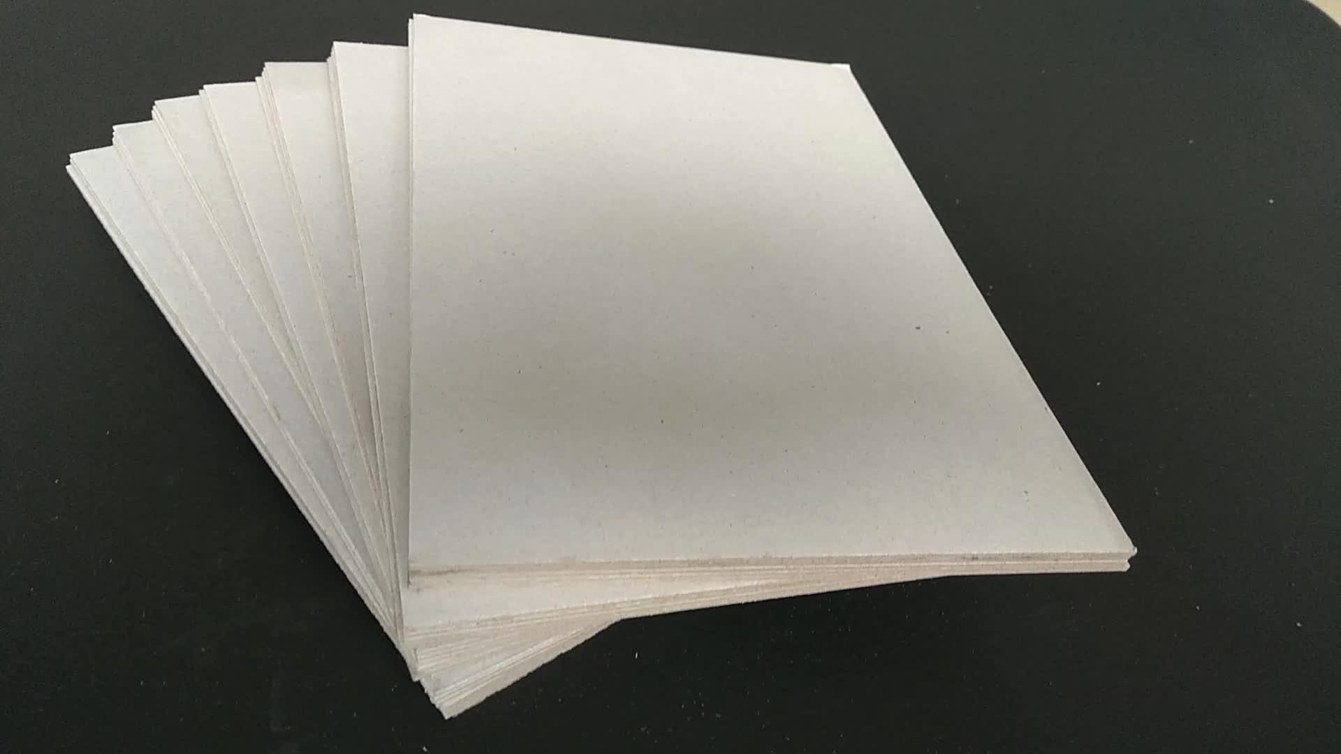 0.3 ถึง 3.5 มม. 250to2500gsm สีเทา Chipboard Duplex ลามิเนตกระดานสีเทา