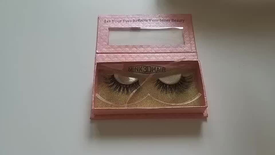 Hot Selling Luxury Cardboard Private Label Custom False Eyelash Packaging Box