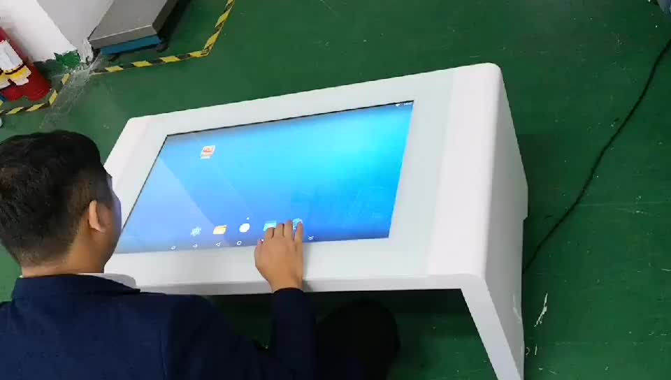 interactive touch screen coffee table for waiting room/show room
