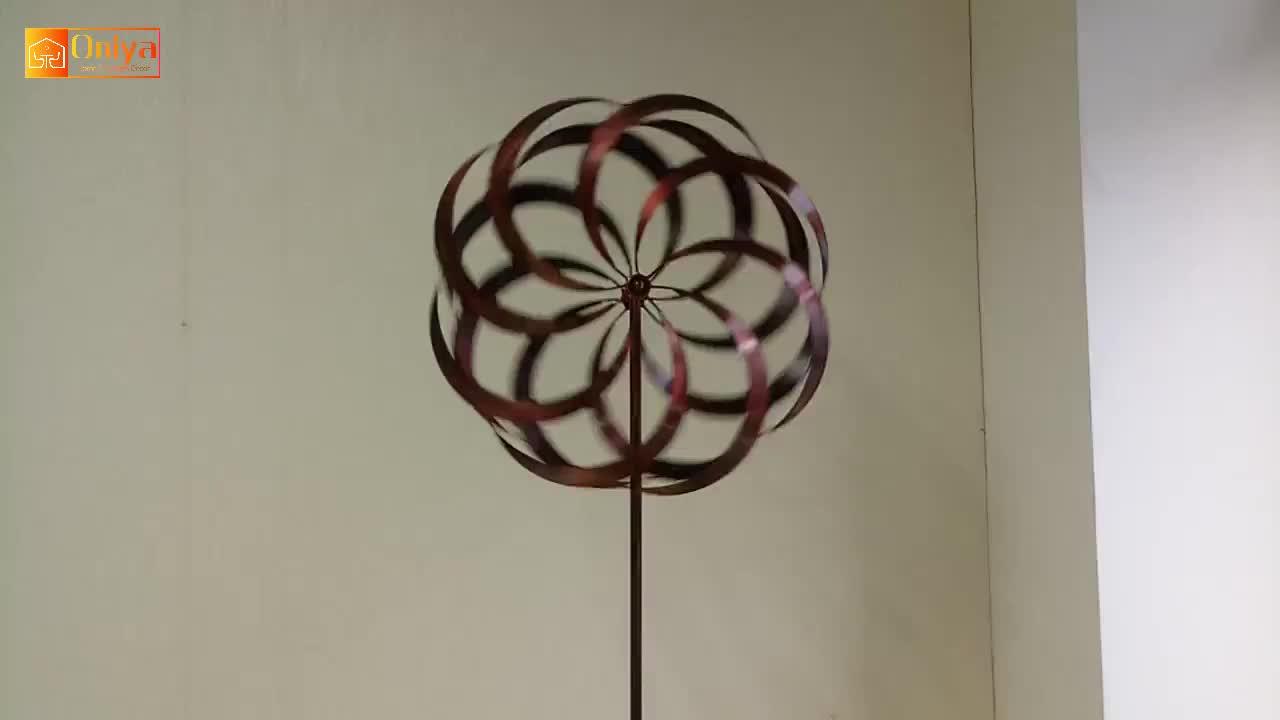 Taman Logam Saham Rainbow Kinetik Angin Spinner Spiral