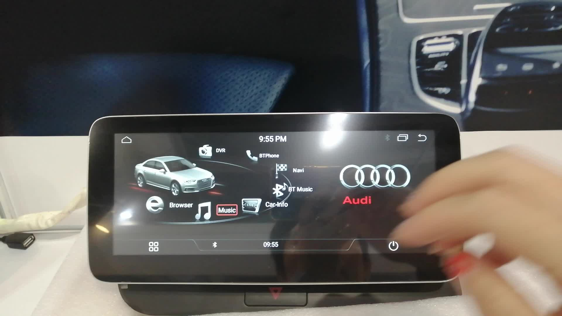 Ugode Android 10,0 10,25 zoll Screen Auto Multimedia Stereo Video Player für AUDI Q5 LHD hohe ebene
