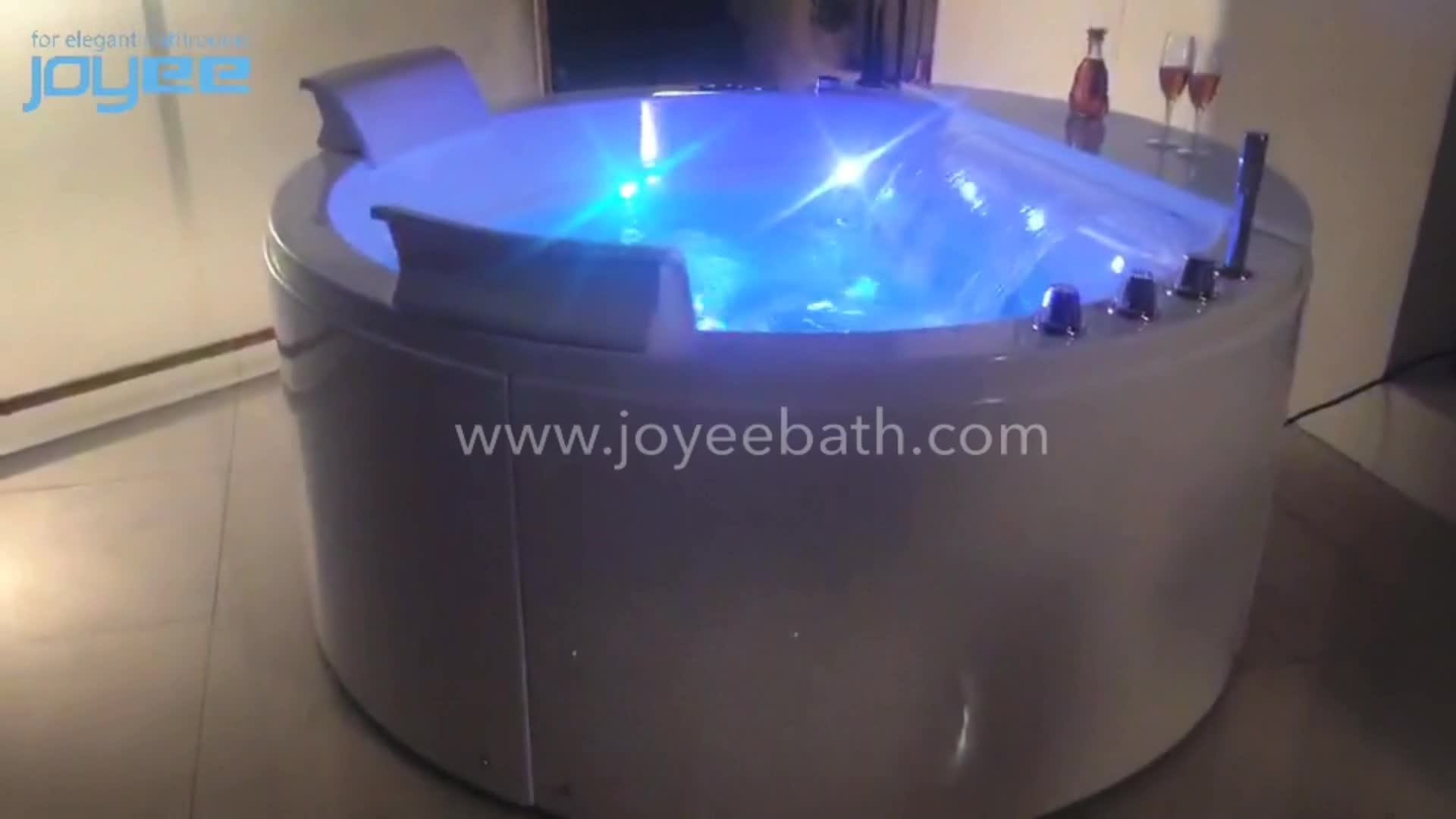 JOYEE 180 mini spa bain à remous portable massage baignoire intérieure avec jacuzzi prix en egypte équipement intégré pour deux les gens
