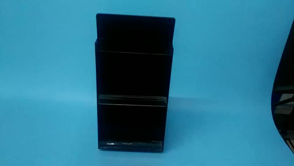 OEM ,Customize Black Acrylic  Rotating Perfume Display