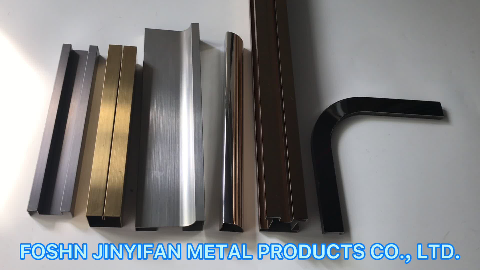 Jyf10017 China Manufacturer Custom Decorative Hairline Finish Stainless Steel Tile Trim