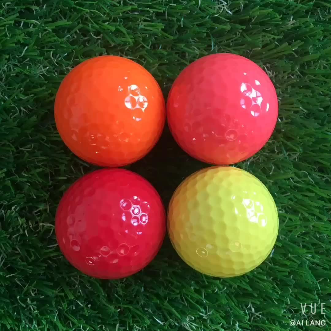 थोक के लिए चमकीले रंग मिनी गोल्फ की गेंद अभ्यास प्रशिक्षण बच्चों