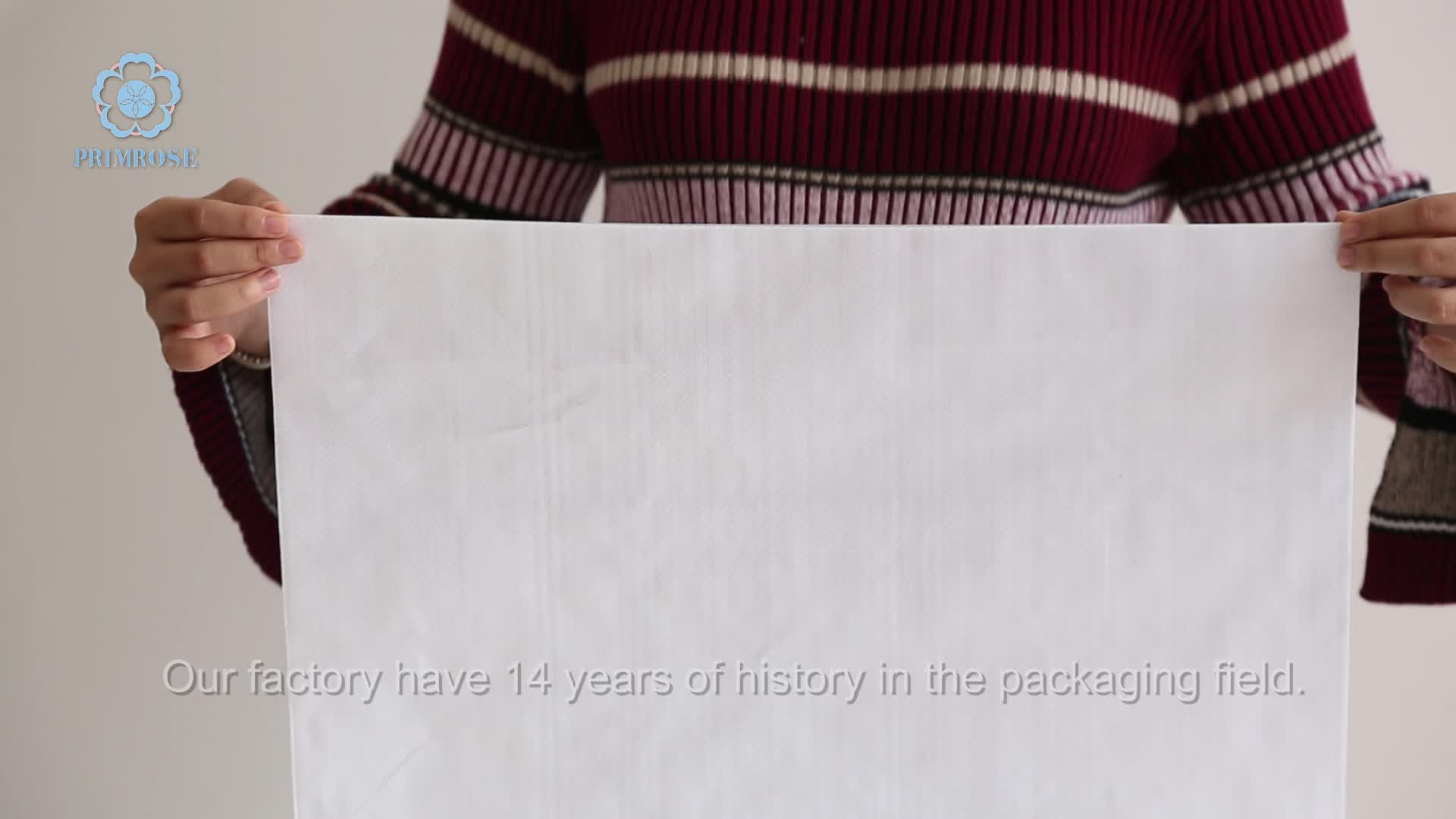 Polypropylène 25 blanc 50 kg pp tissé sacs d'emballage sac de céréales et de maïs fabricant