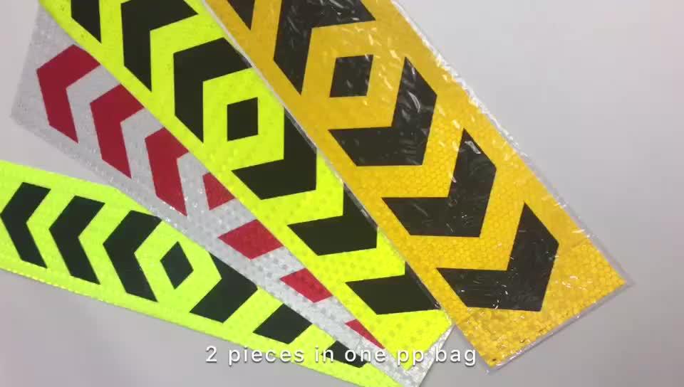 Örnek ücretsiz pp plastik paket uyarı PVC yansıtıcı vinil araba sticker