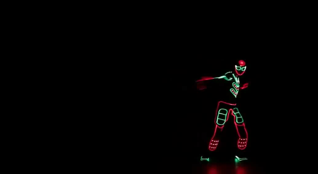 Programmable Gymnastic LED Suits, LED Light Costumes for Club Dance,led tron costume
