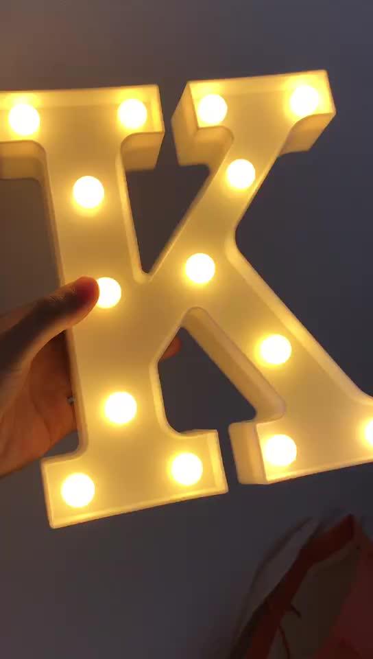 Custom made marquee luzes carta sinal lâmpadas decorativas led light up amor letras