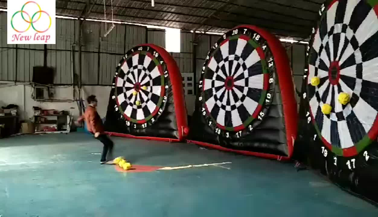 3 meter inflatable games soccer dart board inflatable soccer darts for sale