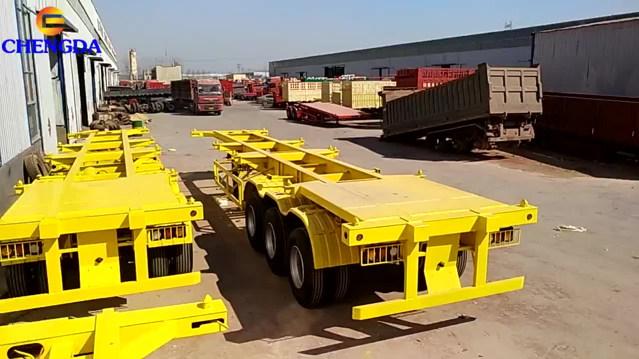40ft Container Chassis Skeleton Trailer Xe Tải Xe Tải Để Bán Philippines