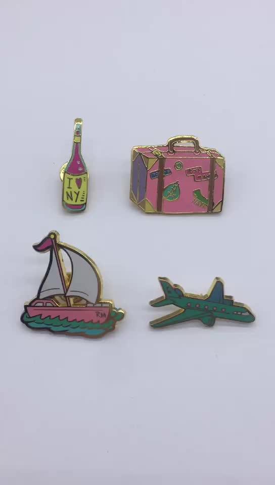 Venta al por mayor Pin de solapa fabricantes MOQ bajo logotipo personalizado Pin de solapa de esmalte para recuerdo