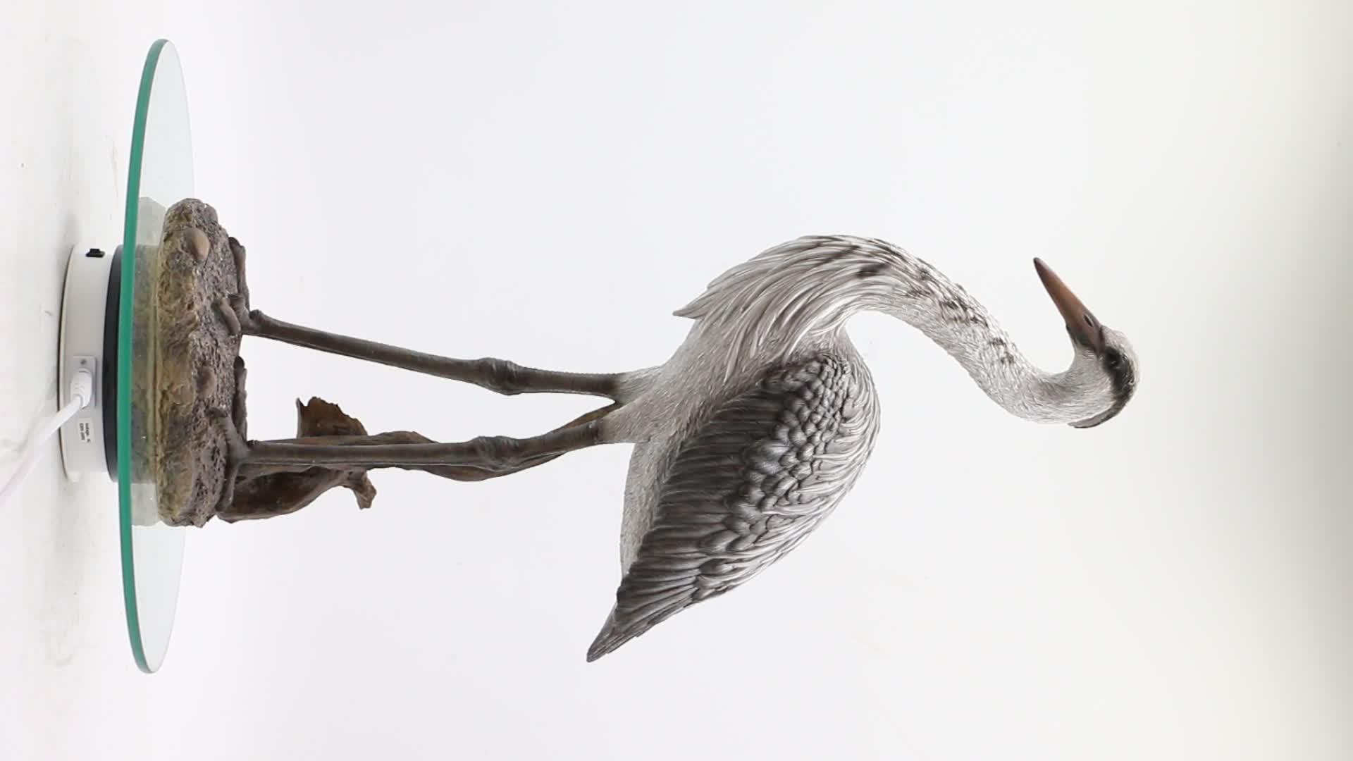 Garden animals resin bird ornaments egret statue, life size animal statues resin bird figurines&