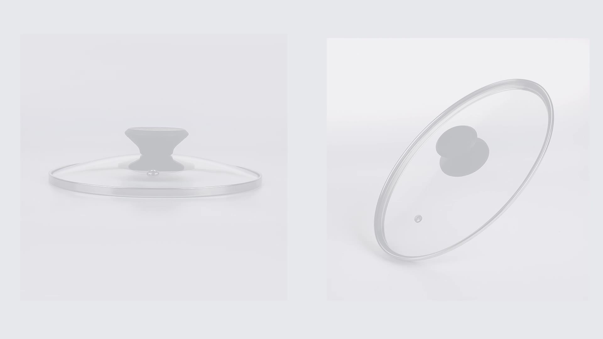 Suministro de fabricante oval 201ss Borde de vidrio templado tapa para macetas