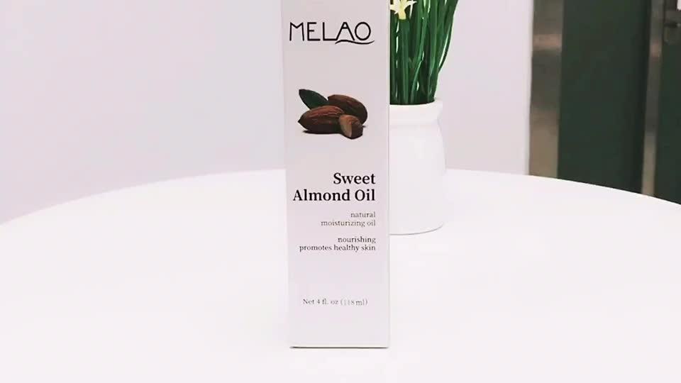 MELAO 100% Pure Organic Sweet Almond Oil Moisturizing Body Massage Lifting Firming Women Skin Care Pure Essential Oil