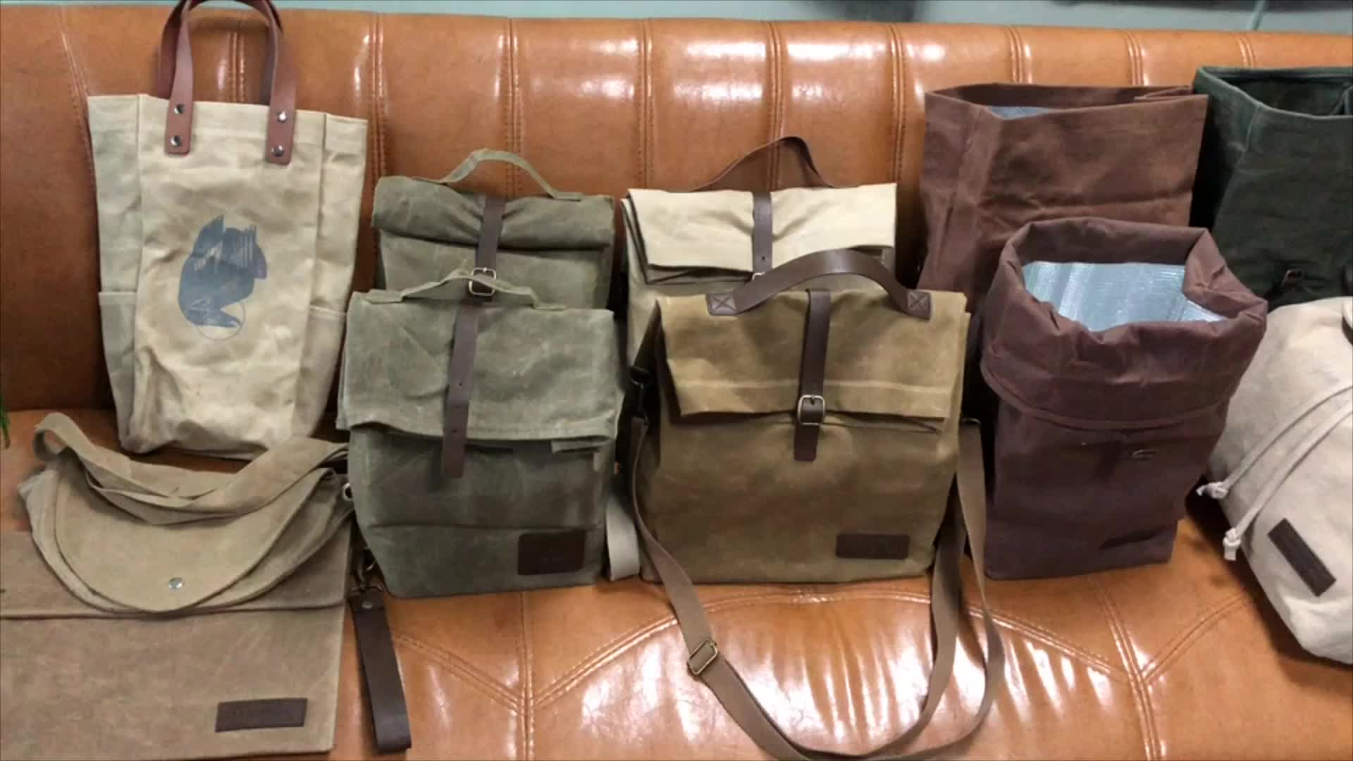 Top Hot Sale Waxed Canvas Lunch Wholesale Insulated Cooler bag