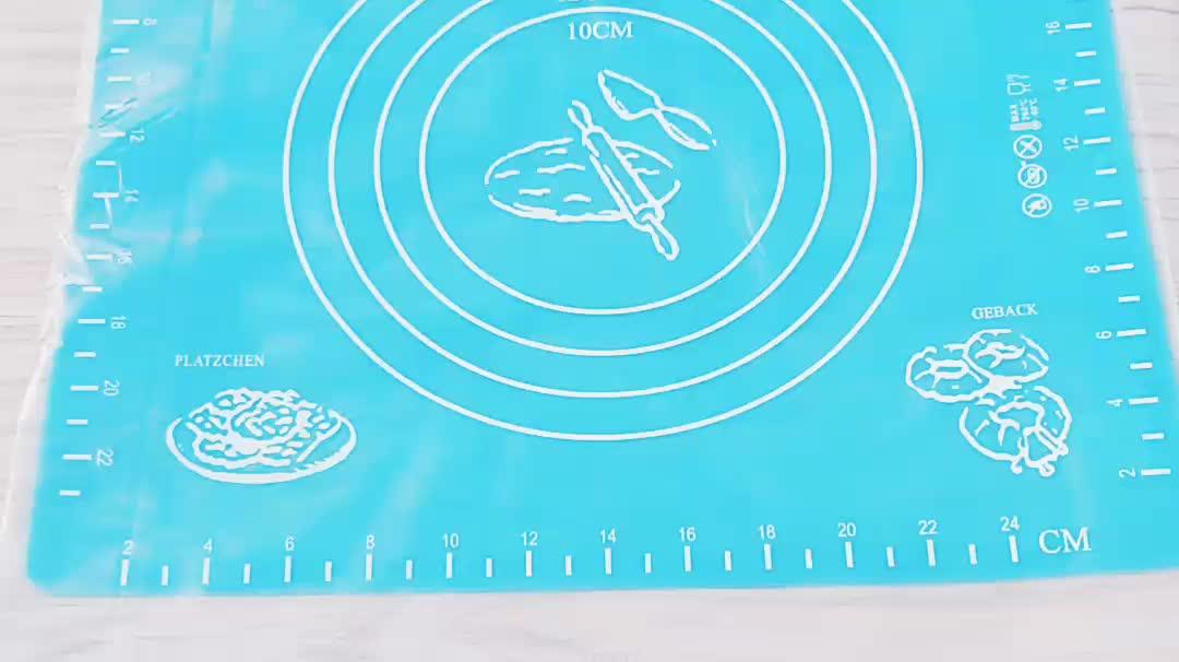 Personalizzato Oem Extra Large antiscivolo In Silicone Pasticceria Mat con La Misura Commercio All'ingrosso di Laminazione Pasta Antiaderente In Silicone Cottura Mat