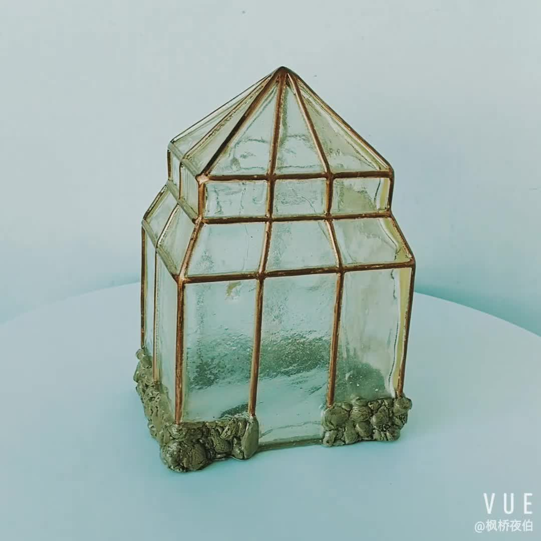 Miniature Garden Decor Vintage Miniature Greenhouse for Fairy Garden Resin Craft