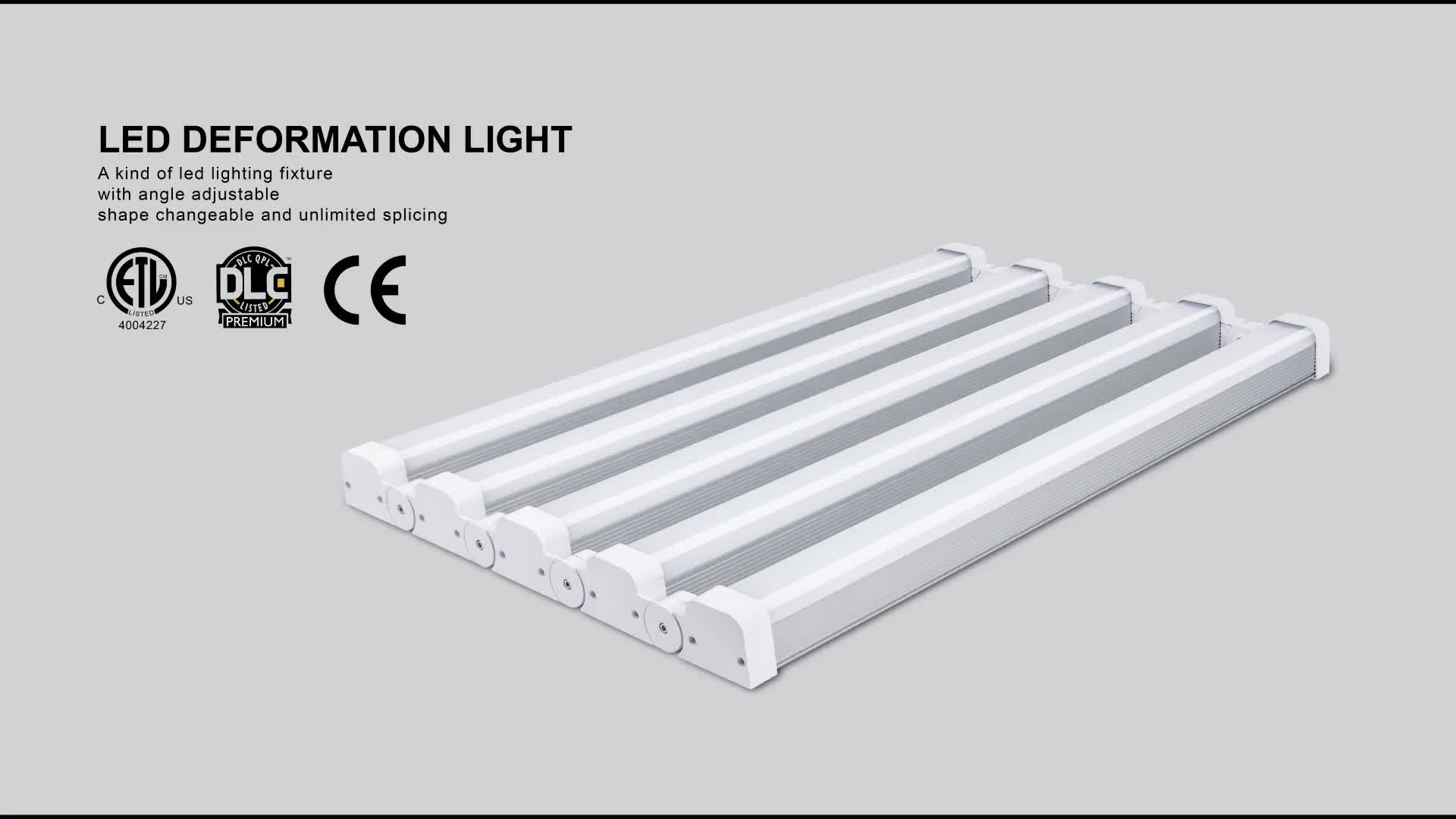 0.6m 1.2m Warehouse Low bay LED defromable light fxture