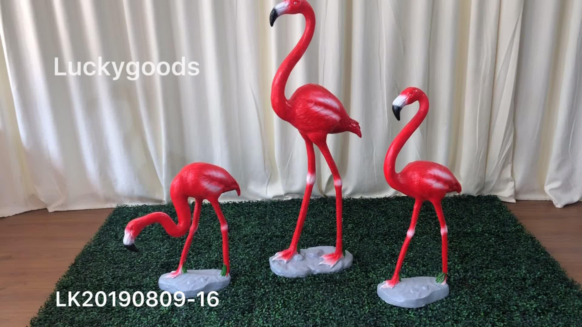 LK20190809-16 High Simulation Garden Decoration Flamingo Artificial Animal for Home Decor
