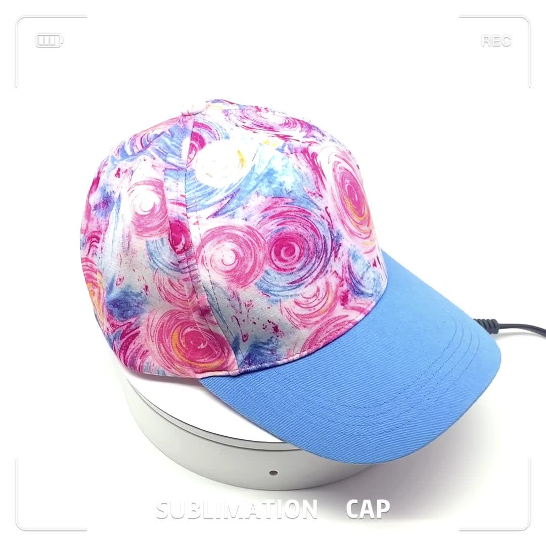 2020 Best Saling Structured 5-panels Fashionable Sublimation Hat Under Visor Baseball Cap