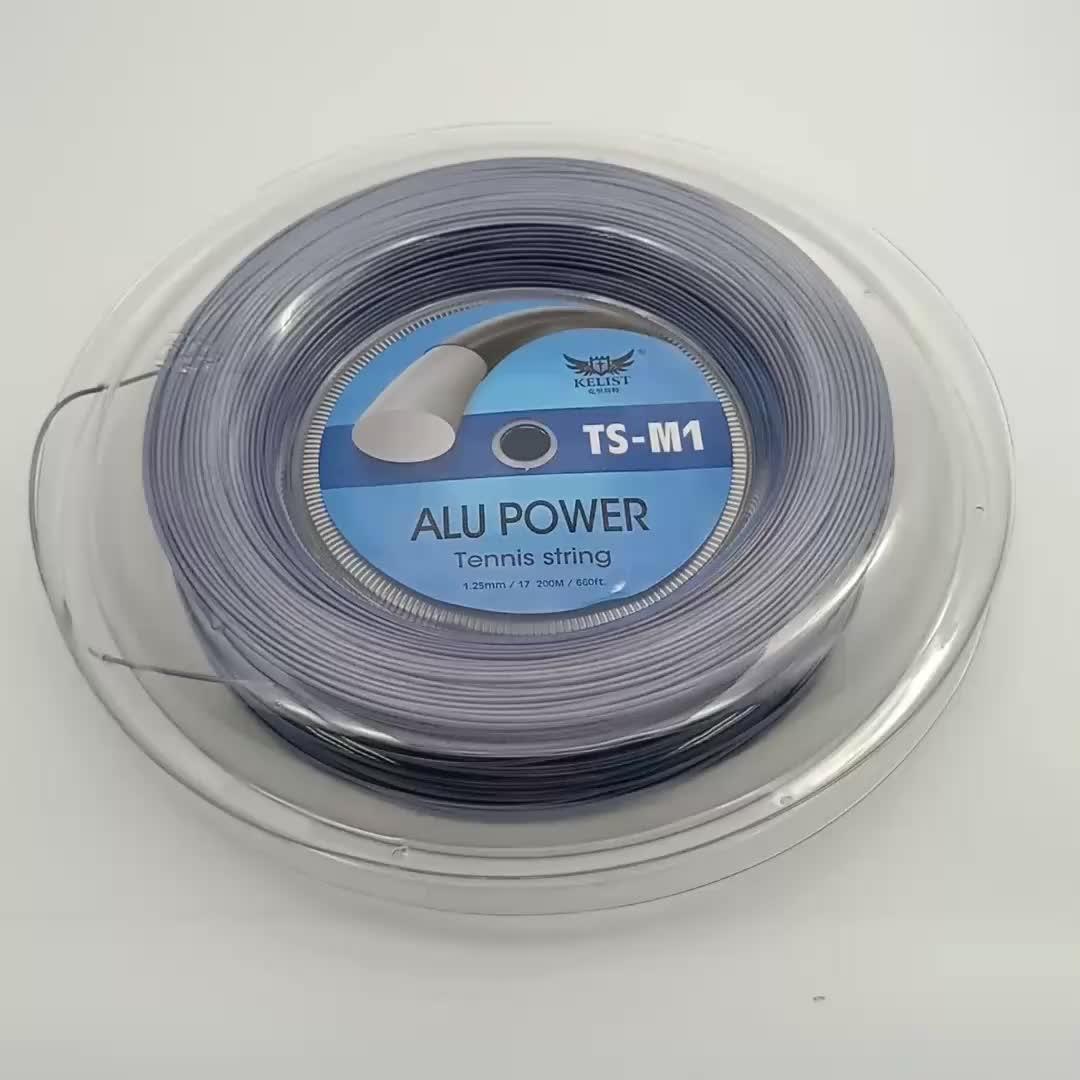 High Strength Polyester Alu Power 1.25mm 200m OEM Tennis String