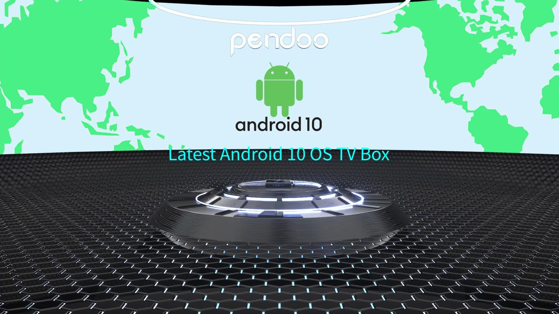 Pendoo X11 PRO Allwinner H616 4GB RAM 32GB / 64GB ROM internet H 4k 8k set top tvbox smart android tv box