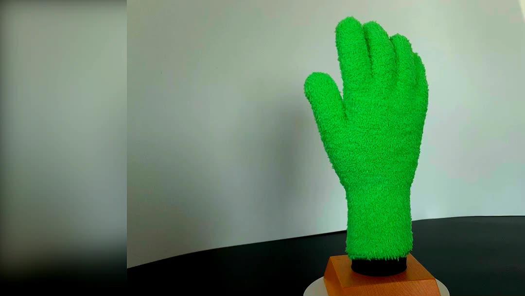 Deliwear Ultra סופג מיקרופייבר חמש אצבע עור נעלי פולני כפפות לניקוי שימוש