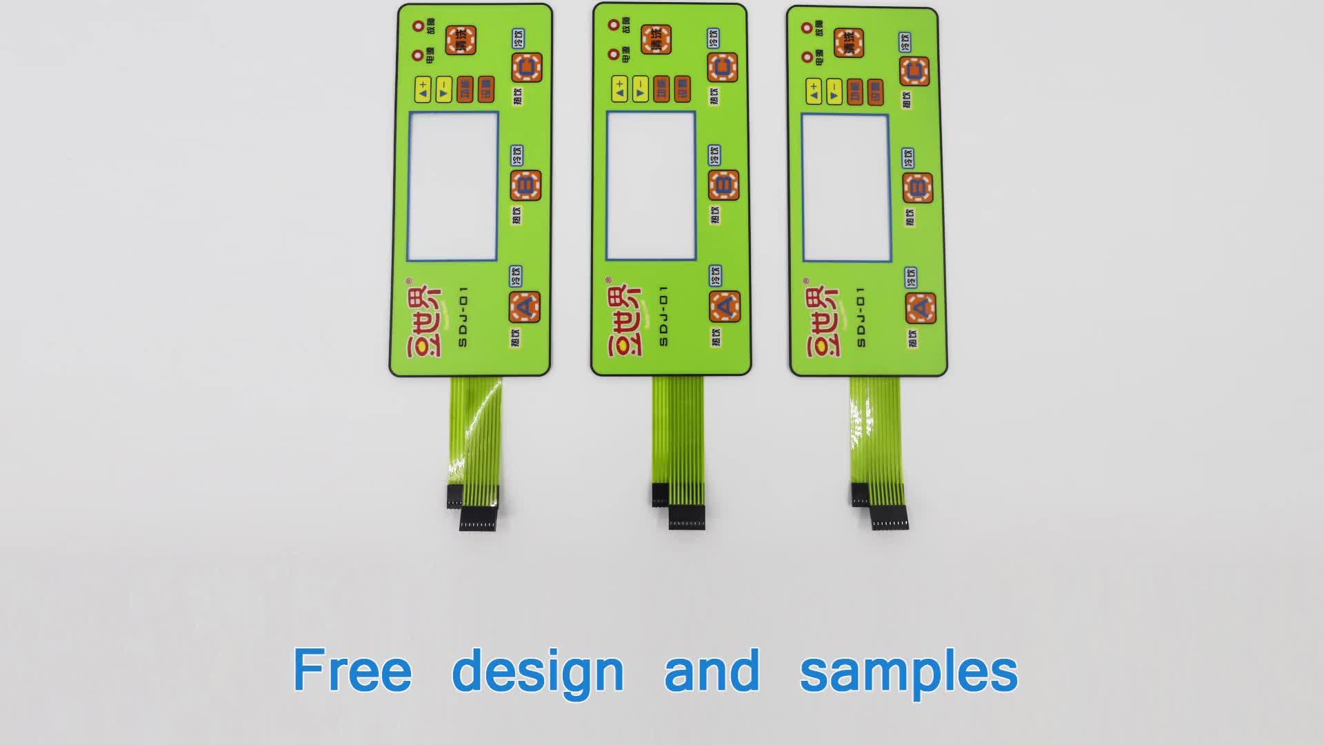 Berkualitas Tinggi Menghasilkan Elektronik Komponen Listrik Bagian Membran Switch Keypad