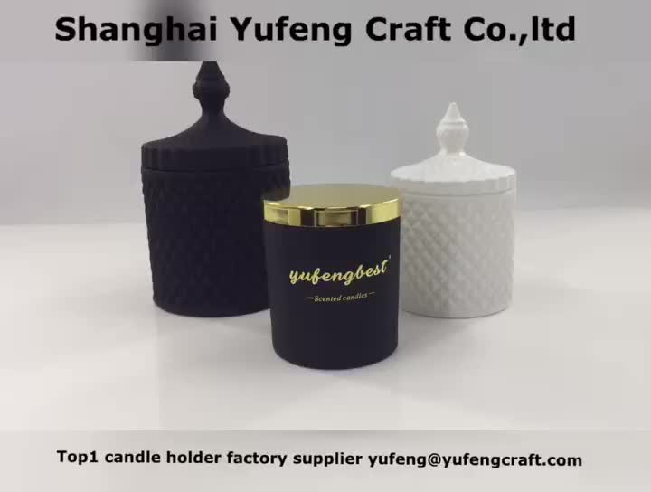 glass  candle jar with logo from yufengbest