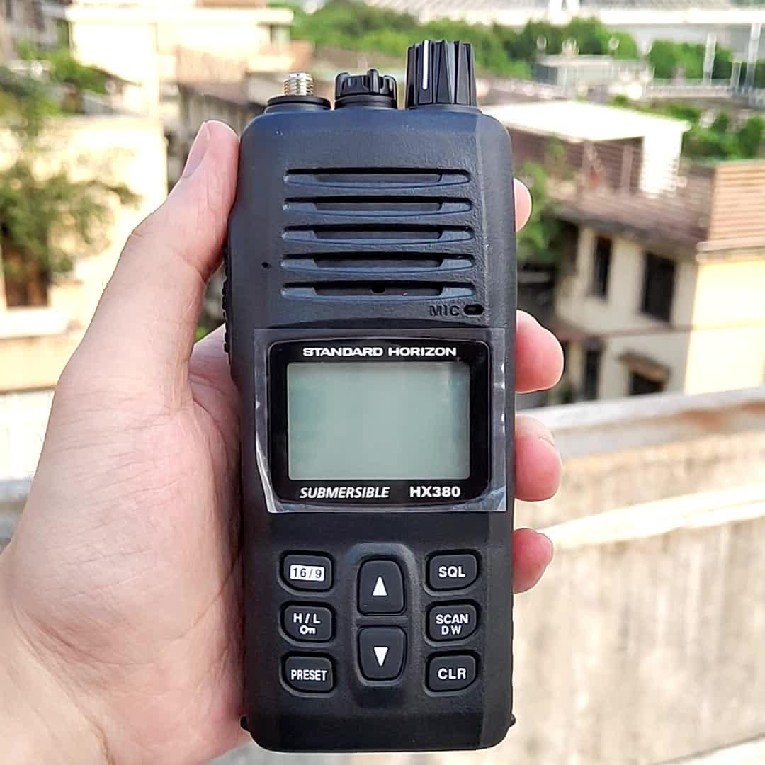 Smart YAESU HX380 VHF Marine Radio IPX7 Waterproof Class Maritime Walkie Talkie