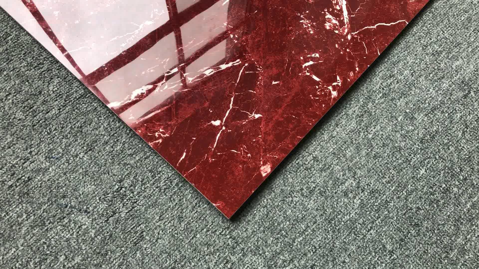 Pavimento Rosso Lucido : Rosso rosso levanto marmo pavimento in ceramica piastrelle lucide