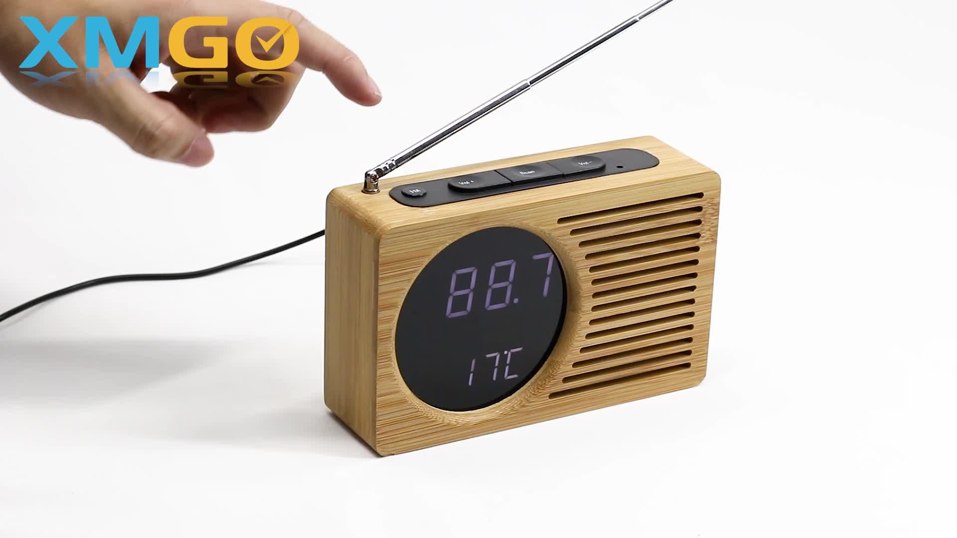 KH-WC013 KING HEIGHT 3 Level Brightness LED Digital Retro Alarm Radio Clock