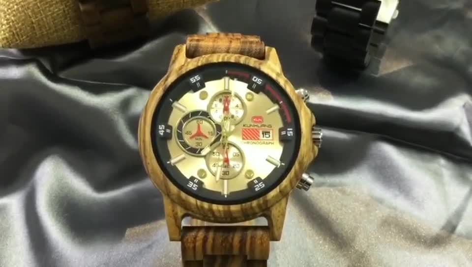 2020 new arrival hot selling multifunction quartz wooden watches for men