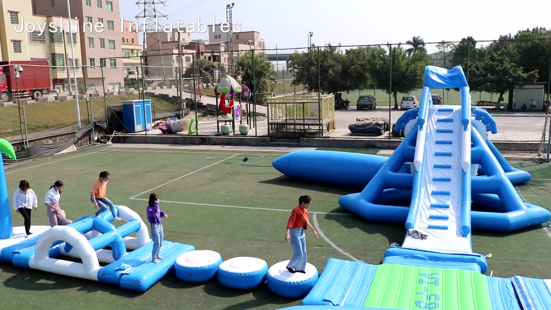 New Design Inflatable Giant Aqua Park Sea Floating Water Obstacle Courses Playground In Water