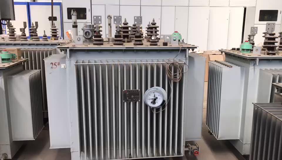 1000kva 3 Fase 11kv 440v Distribución de aceite de inmersión transformador de potencia