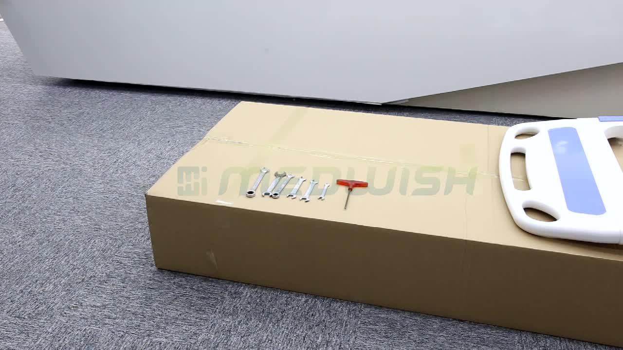 Cama de hospital paciente do ABS do tamanho padrão dos cuidados médicos de AG-BMS001C com trilho lateral