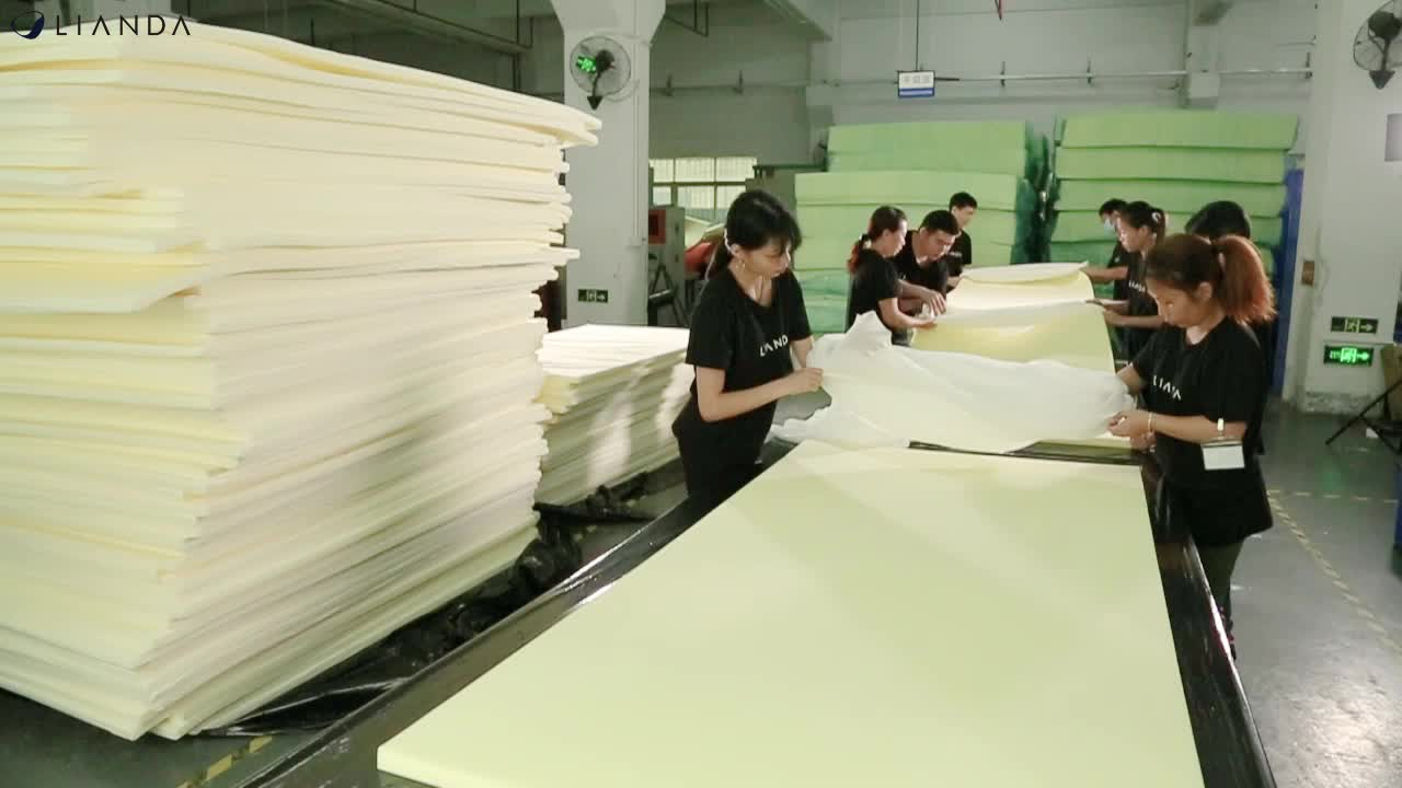 Lianda Wholesale Factory OEM Single bed sleepwell Vacuum Packed Compressible Foam Mattress