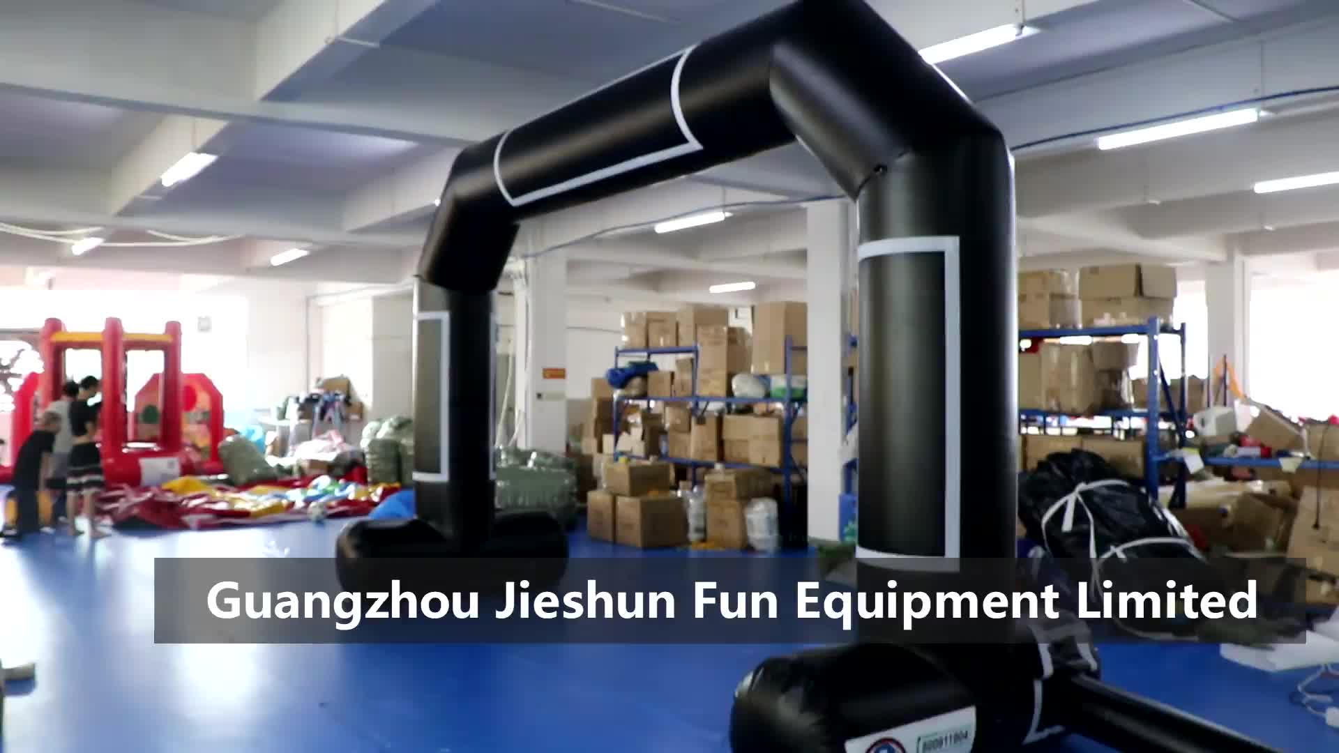 Customized Black Color Inflatable Decoration Advertising Inflatable Arch Race Inflatable Black Arch für Advertisement 0.45mm PVC