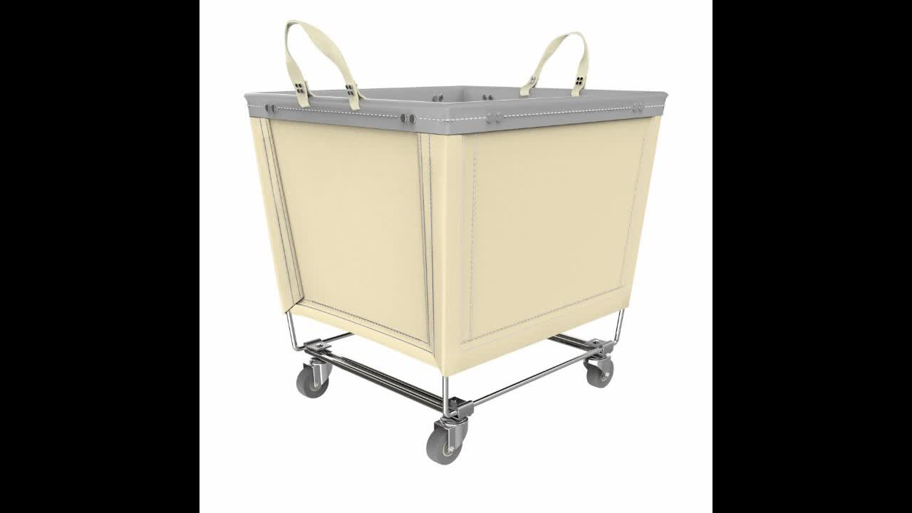 Laundry Basket on Wheels Dirty Clothes and Canvas Laundry Hamper