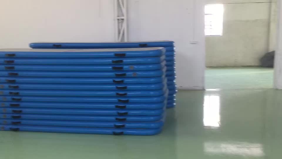 2/3/4/5/6m Gym FItness Equipment Folding Inflatable Tumble Track Gymnastics Mat For Dancing
