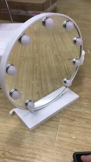 Hollywood Style Vanity Specchio con 10 Luci Dimmerabili Hollywood LED Rotondo Specchio Per Il Trucco Spiegel