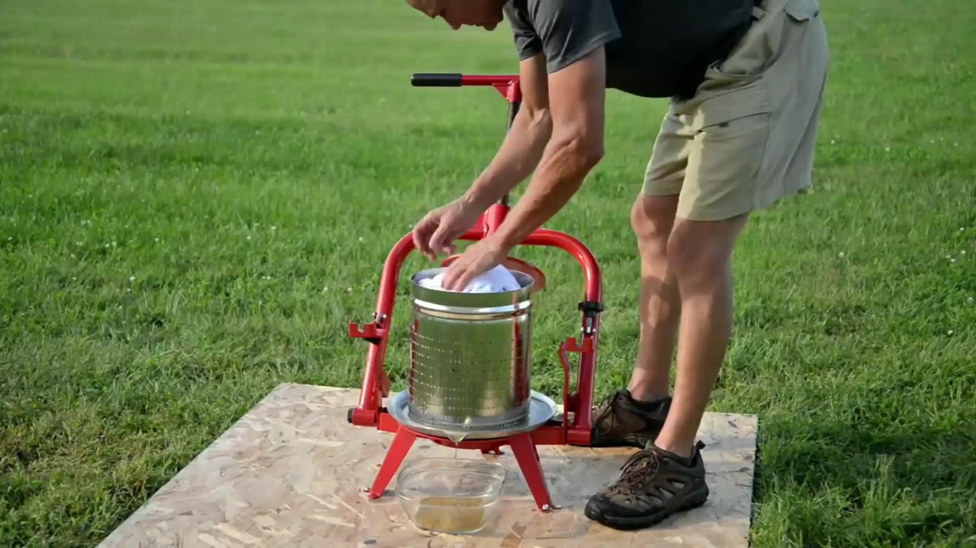 Hot sales Manual MacIntosh Apple Cider Druk Juicer Machine