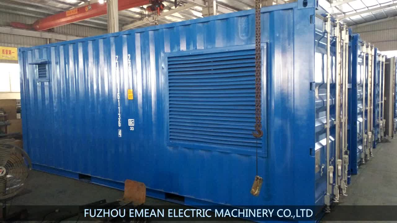 600KW Containerized Type Powerful Generator With KT38-GA Engine