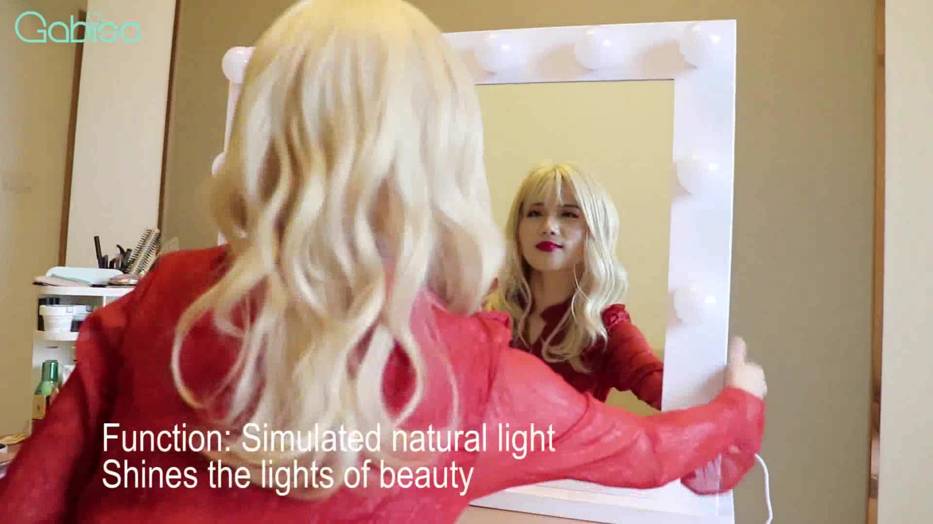 לעבור באופן חופשי בין קיר ושולחן עבודה הוליווד יהירות מראה עם אור עבור איפור מראה סיני ספק