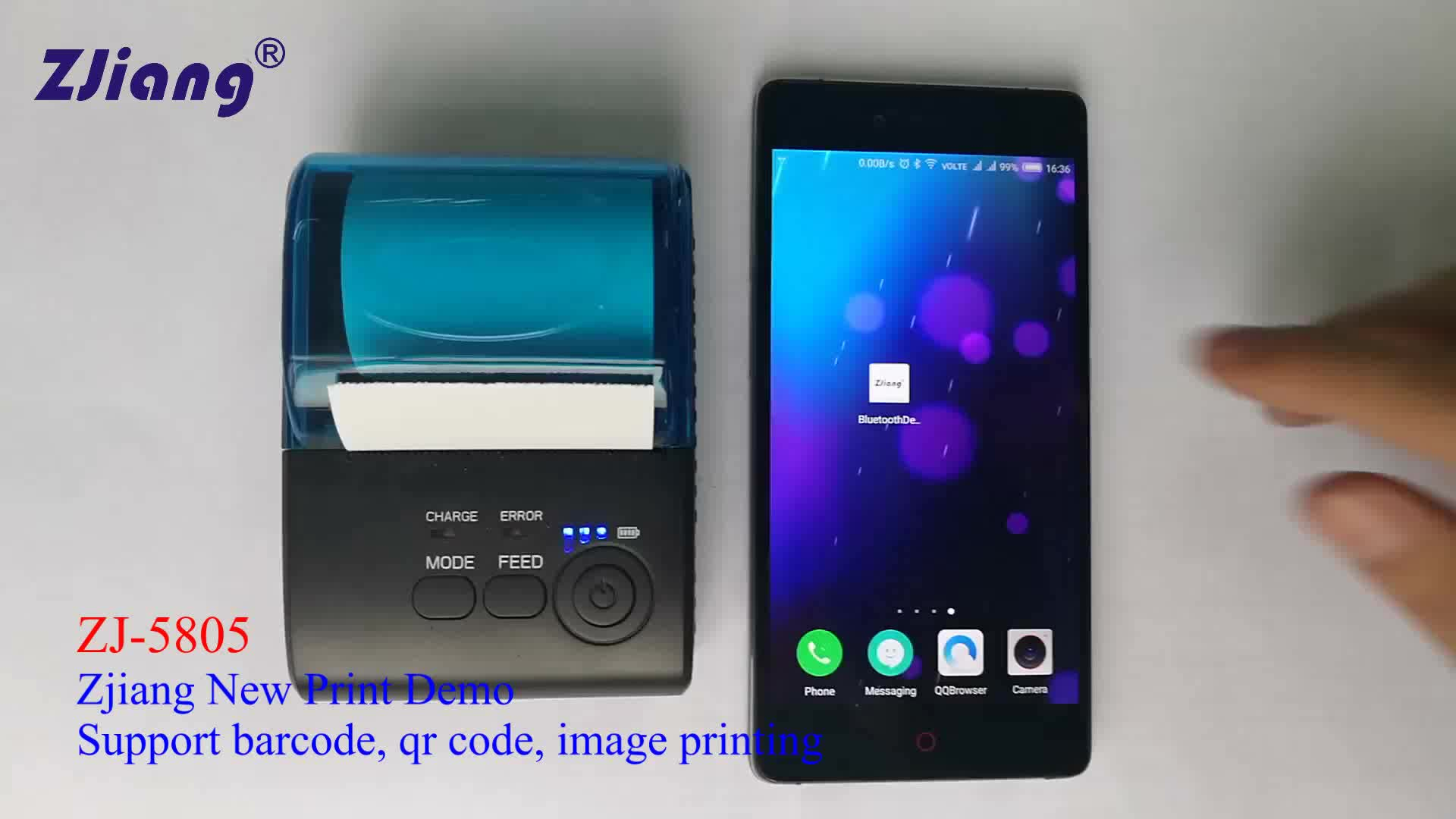 Allibaba com Impresora Direct Thermal Printer Receipt Bluetooth for Coffee Shop Software Download for Android Phone ZJ-5805DD