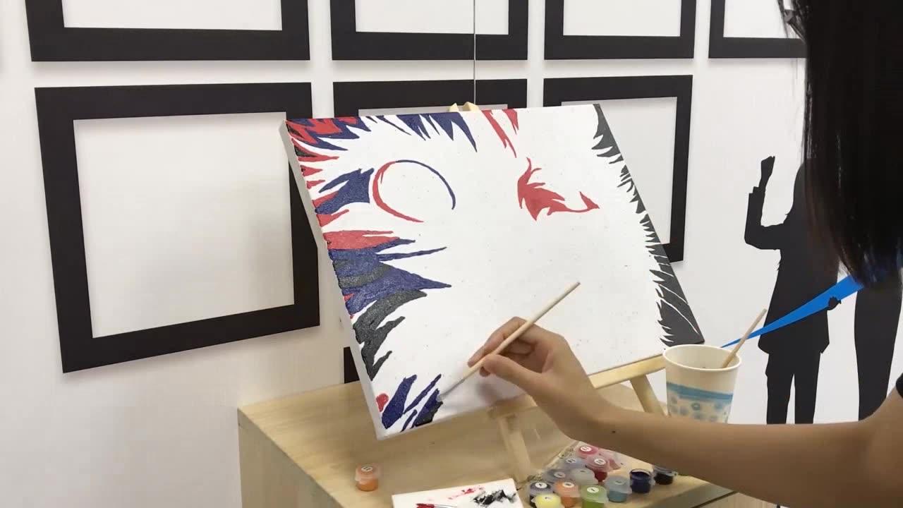 יצירתי כוכבים לילה שמן ציור DIY צבע על ידי מספר ואן גוך עבור למבוגרים