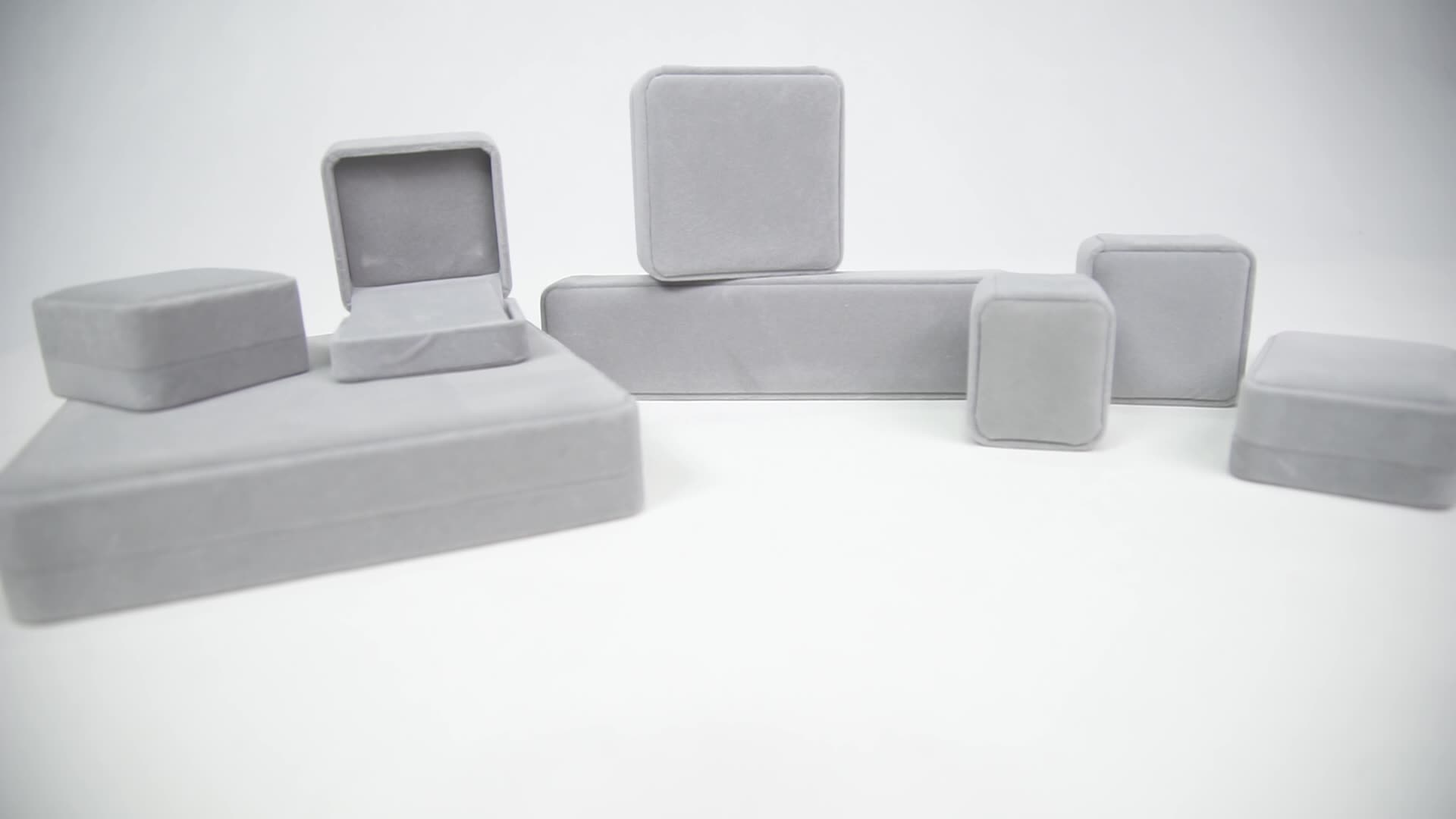 In Stock jewelry packaging set wholesale velvet ring jewelry boxes